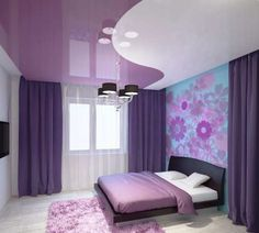 new ideas for bedroom paint purple awesome Small Living Rooms, Living Room Modern, Modern Bedroom, Bedroom Color Schemes, Bedroom Colors, Bedroom Decor, Design Bedroom, Home Office Design, House Design
