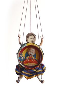 """http://www.pollybecker.com/assemblages/ ladydoll """"a personal piece"""""""