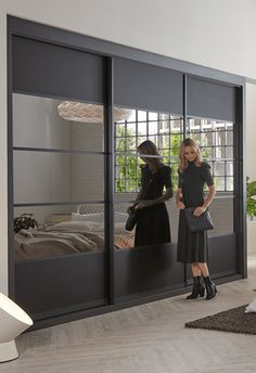 The sleek look and movement of bespoke sliding wardrobes bring other practicality, style and clever storage perfectly.