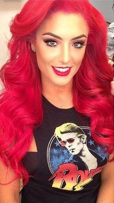 Eva Marie love her hair she is my fav Bright Red Hair, Red Hair Color, Hair Colors, Red Color, Love Hair, Gorgeous Hair, Beautiful, Natural Hair Styles, Long Hair Styles
