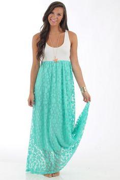 The Kalan Lace Maxi Dress, mint