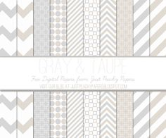 Just Peachy Designs: Free Gray and Taupe Digital Paper Set