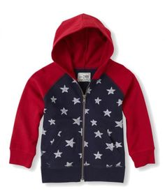 He'll need a light hoodie for those evening fireworks, especially if there's an ocean breeze, and this one couldn't be more appropriate for the occasion. The zip hoodie will make him feel like a big kid, plus it's soft and durable enough for everyday wear.