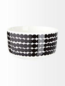 Marimekko Räsymatto bowl l Marimekko, Dog Bowls, Dinnerware, Cuff Bracelets, Interior Design, Tableware, Jewelry, Future, Projects