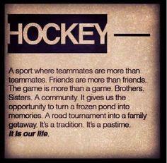 Hockey.                                                                                                                                                                                 More