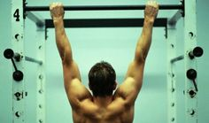 """""""What are Pull-ups & Chin-ups? Hang on a pull-up bar with straight arms & pull yourself up until your chin passes the bar. The difference between Pull-ups & Chin-ups is in the grip: Pull-ups. Palms facing away. Less biceps, more back. Harder. Chin-ups. Palms facing you. Work your biceps more. Easier."""""""