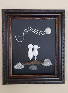 Pebble art rocks art wedding gift loving by madebynatureandme