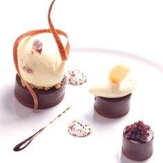 Chocolate, rum raisin, coco caviar #theartofplating #foodporn