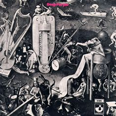 "Deep Purple (1969) Deep Purple website ""Tetragrammaton issued the album in a stark gatefold sleeve, wrapped around with a segmented illustration from Hieronymus Bosch's painting 'The Garden of Earthly Delights'. The label ran into difficulty over the..."