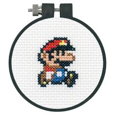 Dimensions Arts and Crafts Super Mario Bros Cross Stitch Kit for Beginners, 11 Count White Aida, Pokemon Cross Stitch, Tiny Cross Stitch, Geek Cross Stitch, Funny Cross Stitch Patterns, Cat Cross Stitches, Cross Stitch Flowers, Cross Stitch Designs, Cross Stitch Embroidery, Super Mario