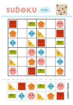 motricidad y atención SUDOKUS 6X6 recorta y pega -Orientacion Andujar Classroom Behavior Chart, Behaviour Chart, Scissor Skills, Math For Kids, Learning Resources, Fall Crafts, Kindergarten, Homeschool, Playing Cards