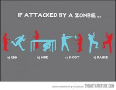 If attacked by a zombie…