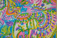 Lilly Pulitzer - Elephants by Zuzek