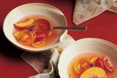 Tomato, Peach, and Hyssop Soup