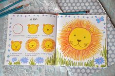 i can draw animals - lion Drawing Classes For Kids, Drawing For Kids, Painting For Kids, Art For Kids, Lions For Kids, September Art, 3 Lions, Lion Drawing, Jungle Animals