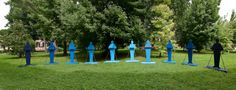 Renato Mambor, I raccoglitori di pioggia, 2011, Isola di San Servolo per la Biennale di Venezia, Courtesy Marzia Spatafora.