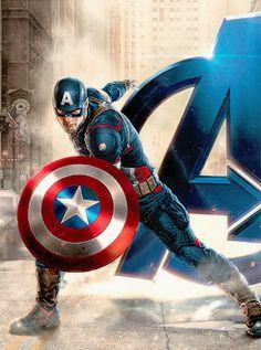 Avengers: Age of Ultron Captain America Promo Art