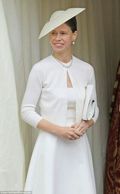 With no agenda, no particular ambitions or feeling of being slighted, Sarah has been happy to take a back seat in royal position jostling,' says one royal insider. Pictured: Lady Sarah attends a Sunday church service at Windsor Castle to mark Prince Philip's 90th birthday