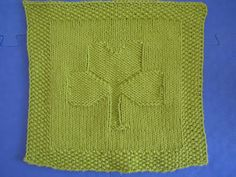 St. Patty's wash cloth.  Will it still be cute when I finish it in the Fall???