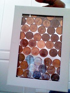 Pennies in a frame