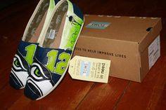 Custom SEAHAWKS Shoes by CorneliusCrafting on Etsy