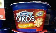 SPOTTED ON SHELVES: Dannon Oikos Limited Edition Gingerbread Greek Yogurt | The Impulsive Buy