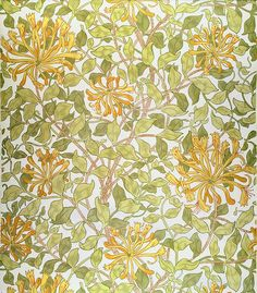 Honeysuckle Design Print by William Morris.  All prints are professionally printed, packaged, and shipped within 3 - 4 business days. Choose from multiple sizes and hundreds of frame and mat options.
