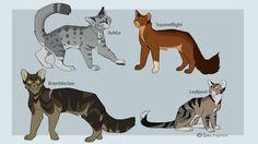 Warrior cat designs #1 by BalticFox.deviantart.com on @DeviantArt