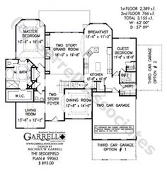 Sedgefield House Plan | House Plans by Garrell Associates, Inc