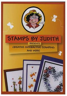Stamps by Judith Creative Interactive Stamping and More DVD Approx. 2 hour. Watch Judith and Heather do Interactive Stamping. Judith will take you step by step thru creating a Torn Paper Garden, Fir Branch Tree, and much more. Heather will show you some simple tricks for decorating the Tree for All Seasons and some fun scrapbook ideas. To see more ideas and order Stamps by Judith & Heather go to www.stampsbyjudith.com