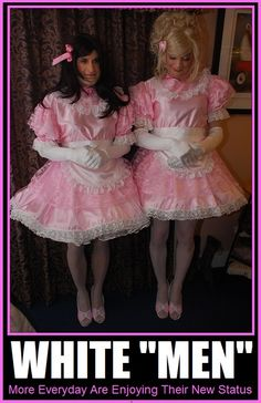 craftykittypirate: themasterofpetticoats: sissytwins: Such darling Sissy twins My my very pretty love the outfits,got to get a nice sissy dress Hmm so so pretty I have them kneeling before me ! Prissy Sissy, Sissy Boy, Sissy Maids, Frilly Dresses, Flower Girl Dresses, Tv Girls, Boys, Maid Uniform, Beautiful Wife