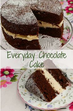 An everyday chocolate cake. Quick and easy to make with the all-in-one method. Ideal base for a birthday cake. Sponge Cake Recipes, Easy Cake Recipes, Baking Recipes, Sweet Recipes, Dessert Recipes, Baking Ideas, Cake Simple, Novelty Birthday Cakes, Easy Birthday Cake Recipes