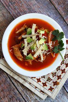Slow Cooker Chicken Tortilla Soup #recipe