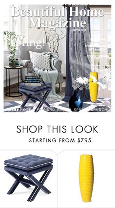 """Beautiful Home Magazine"" by nicolevalents ❤ liked on Polyvore featuring interior, interiors, interior design, home, home decor, interior decorating, Half Price Drapes and Seasonal Living"