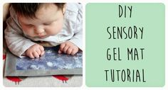 A quick and easy sensory gel mat tutorial. Great for a tummy time activity.