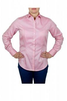 Svetloružová dámska košeľa