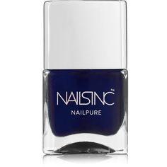 Nails inc Nailpure Polish - Prince Arthur Road (805 MKD) ❤ liked on Polyvore featuring beauty products, nail care, nail polish, nail, makeup, navy, glossy nail polish, nails inc., nails inc nail polish and shiny nail polish