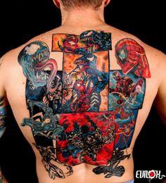 tattoo, tatouage, spiderman