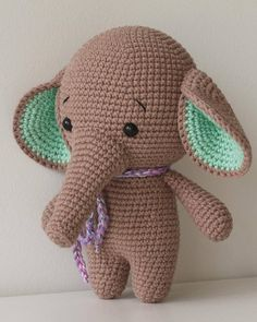 ALONSO the Elephant Toy Crochet Elephant Stuffed Elephant
