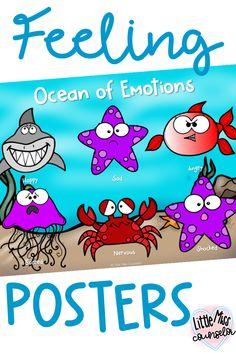 Send your students to the Calm Down Sea when they are in an ocean of emotions and need to take a break. Teaching Social Skills, Social Emotional Learning, Emotions Activities, Activities For Kids, Emotional Regulation, Feelings And Emotions, School Counselor, Working With Children, Calm Down