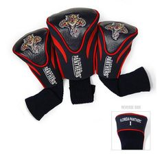 Florida Panthers 3 Pack Contour Fit Headcover #FloridaPanthers