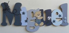 19 Trendy Baby Names Boy Country Letters Baby Boy Rooms, Baby Boy Nurseries, Baby Room, Name Decorations, Baby Shower Decorations For Boys, Baby Shower Favors Girl, Baby Boy Shower, Nursery Letters, Baby Mickey