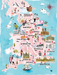 Time Out London and Visit England map by Tilly aka Running For Crayons, via Behance