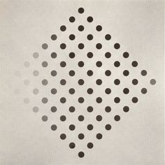 Bridget Riley Black to White Disks 1961-2 Emulsion on Canvas 178 x 178 cm