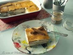 Pastel de galletas y canela