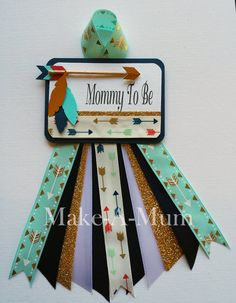 Tribal Baby Boy Shower corsage Mommy To Be Boy Baby by MakeAMum                                                                                                                                                                                 More