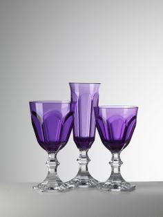 Mario Luca Giusti Dolce Vita Violet Water, Wine and Champagne Flute