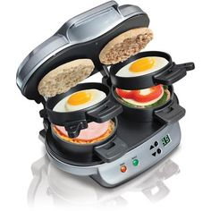Hamilton Beach Dual Breakfast Sandwich Maker, Silver