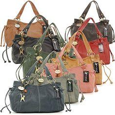 """Ledertragetasche """"Mia"""" von Catwalk Collection - GRÖßE: B: 32 H: 19 T: 14 cm - http://herrentaschenkaufen.de/catwalk-collection-handbags/ledertragetasche-mia-von-catwalk-collection-gr-b"""