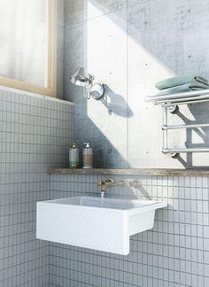 bathroom / concrete house
